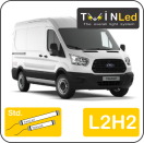 "00-03-122.2 TwinLed Ford Transit 2T L2H2 12v. std. set <font size=""4"" color=""#5A5097"">TwinLed professional vehicle lighting</font>