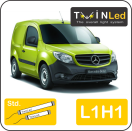 "00-06-111.2 TwinLed Mercedes Citan L1H1 12v. std. set <font size=""4"" color=""#5A5097"">TwinLed professional vehicle lighting</font>