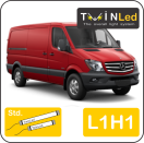 "00-06-211.2 TwinLed Mercedes Sprinter L1H1 12v. std. set <font size=""4"" color=""#5A5097"">TwinLed professional vehicle lighting</font>