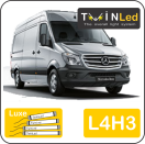 "00-06-243.4 TwinLed Mercedes Sprinter L4H3 12v. luxe set <font size=""4"" color=""#5A5097"">TwinLed professional vehicle lighting</font>