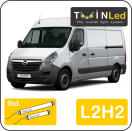 "00-08-222.2 TwinLed Opel Movano L2H2 12v. std. set <font size=""4"" color=""#5A5097"">TwinLed professional vehicle lighting</font>