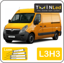 "00-08-233.4 TwinLed Opel Movano L3H3 12v. luxe set <font size=""4"" color=""#5A5097"">TwinLed professional vehicle lighting</font>