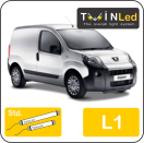 "00-09-111.2 TwinLed Peugeot Bipper L1 12v. std. set <font size=""4"" color=""#5A5097"">TwinLed professional vehicle lighting</font>