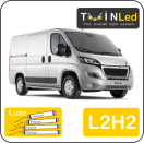 "00-09-222.4 TwinLed Peugeot Boxer L2H2 12v. luxe set <font size=""4"" color=""#5A5097"">TwinLed professional vehicle lighting</font>