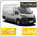 "00-09-232.2 TwinLed Peugeot Boxer L3H2 12v. std. set <font size=""4"" color=""#5A5097"">TwinLed professional vehicle lighting</font>