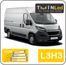 "00-09-233.4 TwinLed Peugeot Boxer L3H3 12v. luxe set <font size=""4"" color=""#5A5097"">TwinLed professional vehicle lighting</font>
