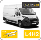 "00-09-242.2 TwinLed Peugeot Boxer L4H2 12v. std. set <font size=""4"" color=""#5A5097"">TwinLed professional vehicle lighting</font>