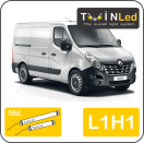 "00-10-211.2 TwinLed Renault Master L1H1 12v. std. set <font size=""4"" color=""#5A5097"">TwinLed professional vehicle lighting</font>