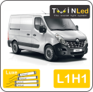 "00-10-211.4 TwinLed Renault Master L1H1 12v. luxe set <font size=""4"" color=""#5A5097"">TwinLed professional vehicle lighting</font>