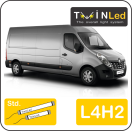 "00-10-242.2 TwinLed Renault Master L4H2 12v. std. set <font size=""4"" color=""#5A5097"">TwinLed professional vehicle lighting</font>