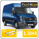"00-12-234.2 TwinLed Volkswagen Crafter L3H4 12v. std. set <font size=""4"" color=""#5A5097"">TwinLed professional vehicle lighting</font>
