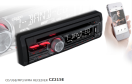 "01-02-018.0 Clarion CZ215E - 1-Din CD/USB/MP3/WMA receiver <font size=""4"" color=""#5A5097"">Cool entertainment capabilities with a dash of passion</font>