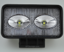 03-01-101.0 LED werklamp Flood 20w. (2 x 10w.) 1350 lm.10 - 30v.  DC 110 x 60 x 56 mm.  03011010.jpg
