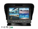 "04-04-011.0 STC-700PL 7 quad TFT monitor LED / touchscreen , 1RCA + 4 md camera  7"" touchscreen monitor"