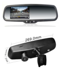 "04-04-022.0 4.3inch mirror monitor Day / Night + 1080P DVR Dashcam  4,3"" TFT mirror + 1080P dashcam"